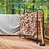 8' Steel Firewood Rack