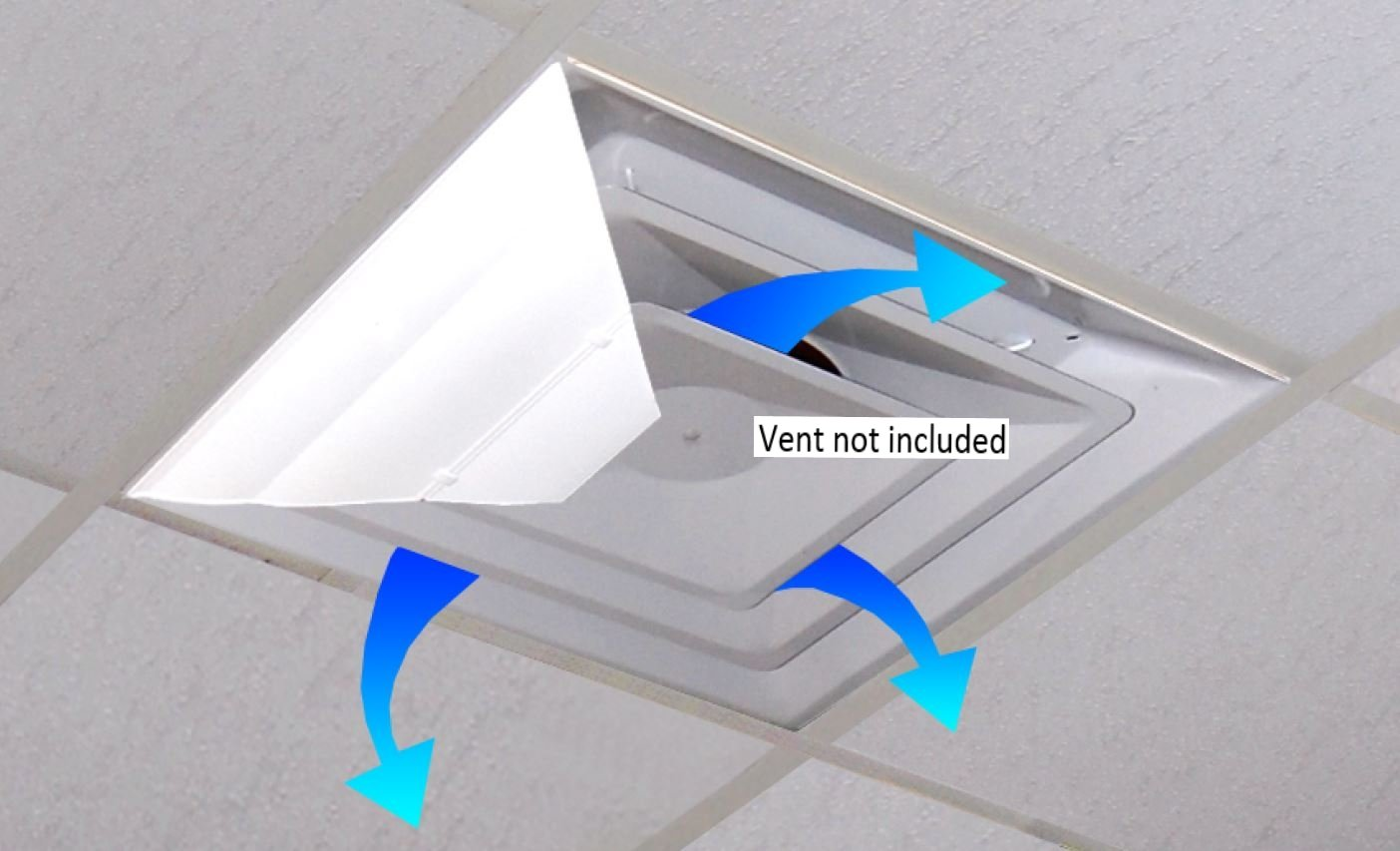 "AIRVISOR Air Deflector for Office Ceiling Vents 24""x 24"" (Set of 1)"
