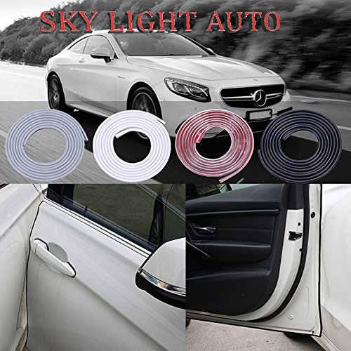 Car Door Edge Trim anti-collision scratch protector strip stickers ( 16 ft ) (Transparent) - 16' Low Bay Light