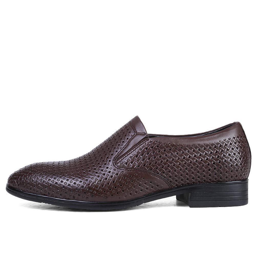 2018 Herren Business Oxford Casual Casual Casual Größe des Codes British Leder und ausgehöhlten Formelle Schuhe (Farbe   Hollow Dark braun, Größe   43 EU) (Farbe   Wie Gezeigt, Größe   Einheitsgröße) 49b79f
