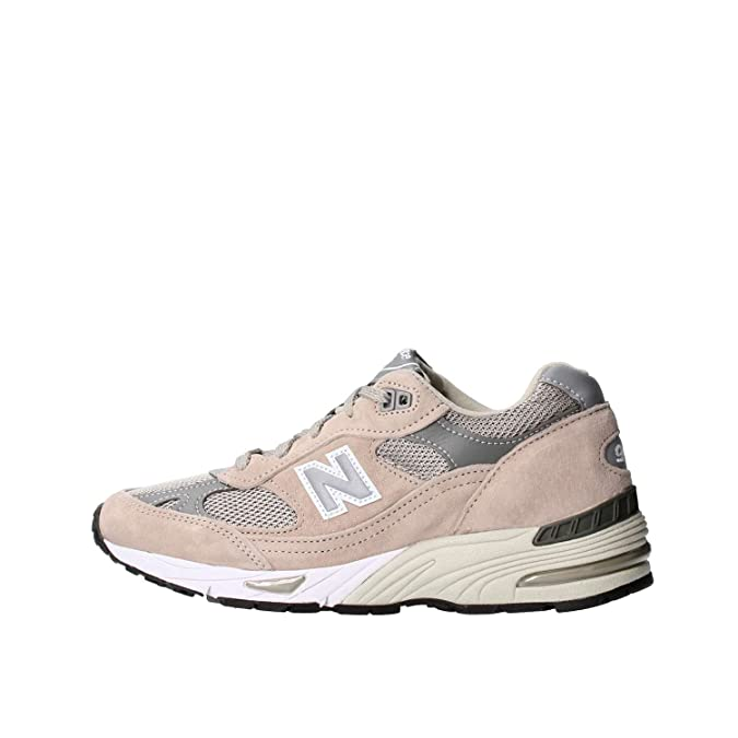 New Balance - W991GL - W991GL - Color: Blanco-Gris-Marrón - Size: 40.5 mOKeLJ