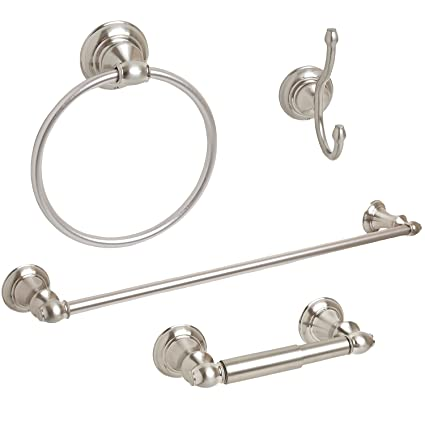 Beautiful towel Bar Set Brushed Nickel