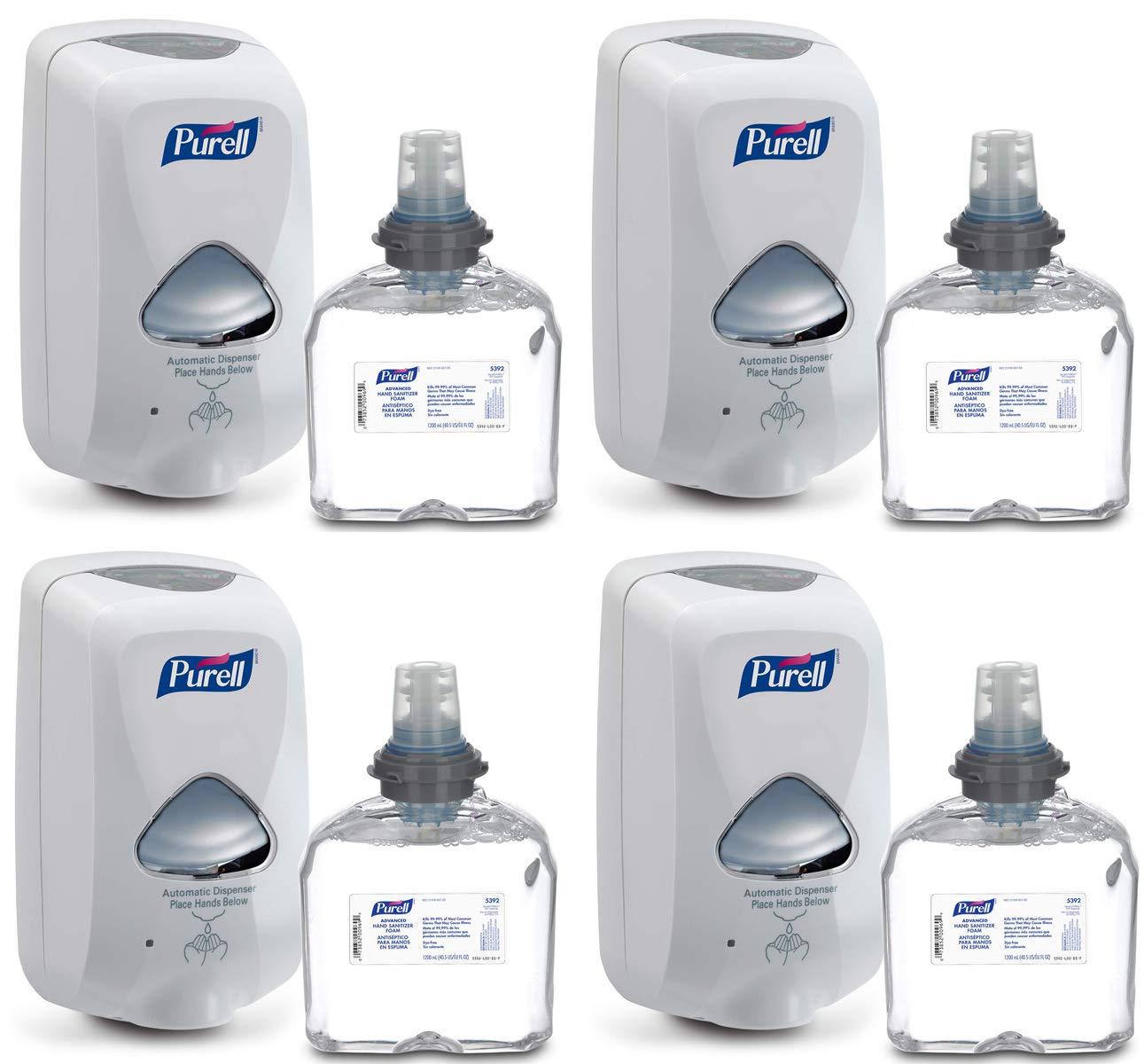Purell WTBUK Advanced Hand Sanitizer Foam TFX Starter Kit, 4 Sets (Dispenser + Foam Refill)
