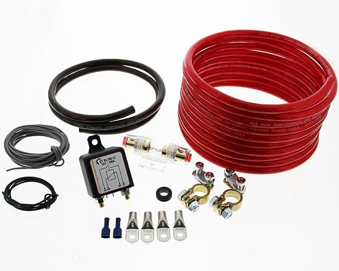 Trennrelais DTRL180/12 Einbauset mit AWG 8 Kabel von The Drive ...
