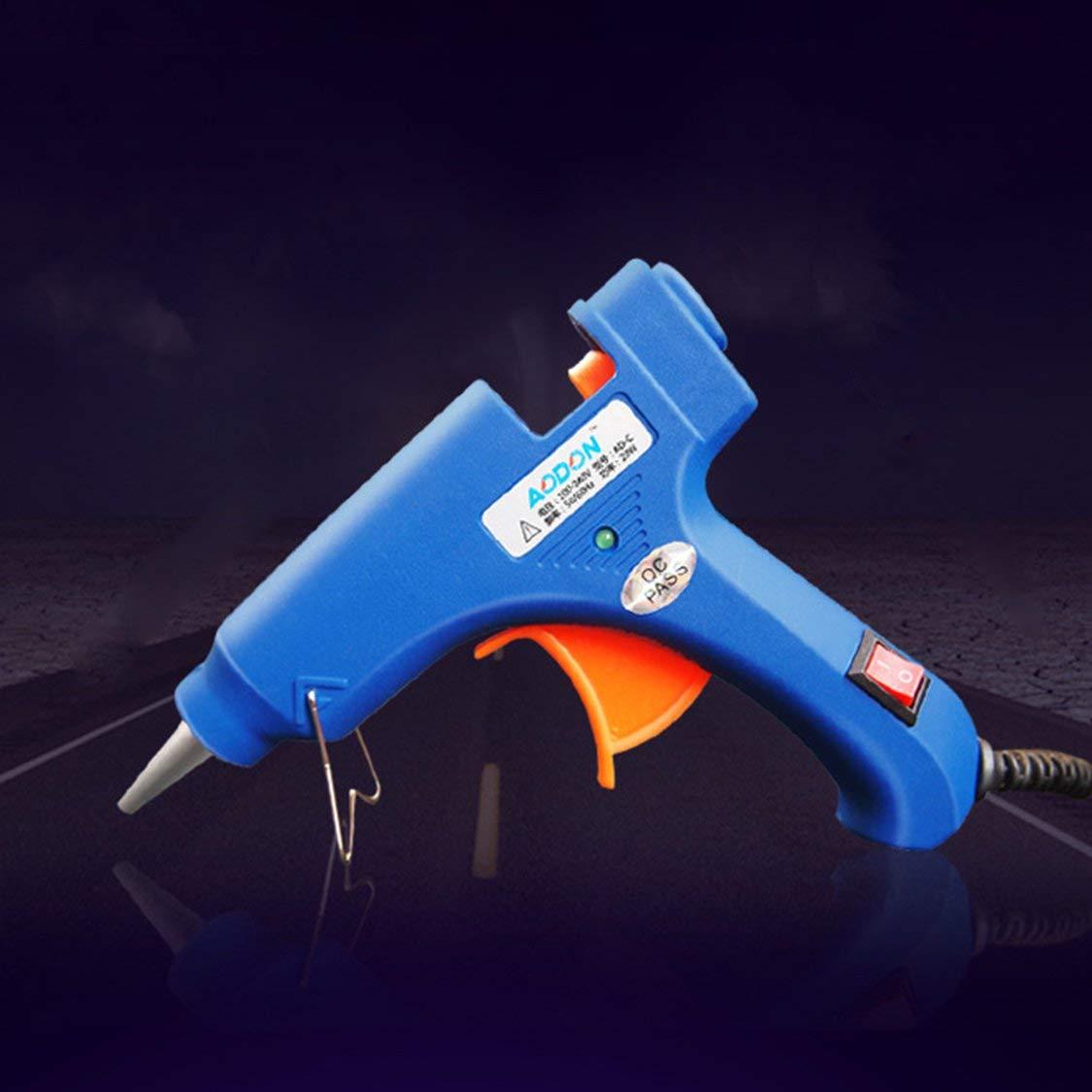 Pistola de pegamento con interruptor 20W Pistola de pegamento caliente Pistola de pegamento de fusi/ón en caliente Mini pistola de pegamento Diy Jewelry
