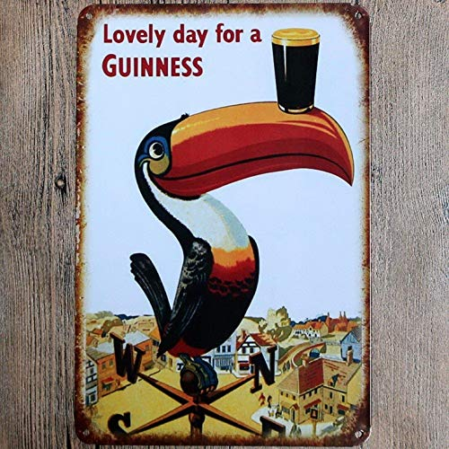 - Uptell Metal Tin Sign Lovely Day for A Guinness Decor Bar Pub Home Vintage Retro Poster