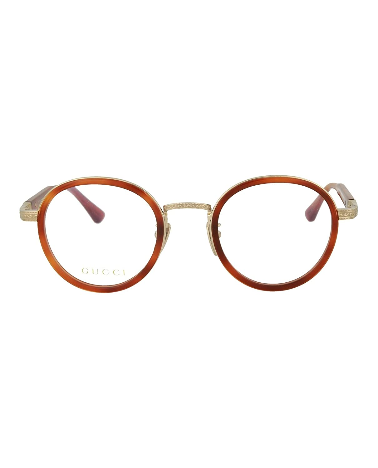 2035d217a9 Amazon.com  Gucci Mens Round Oval Optical Frames GG0067O-30001063-001   Clothing