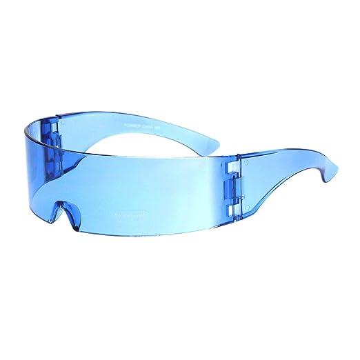 60ef90883275 Amazon.com  Cyber Punk Cyclops Shield Neon Color Lens Plastic Warp ...