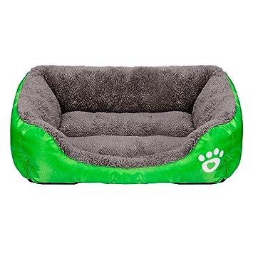 kingwo perro gato cama cachorro amortir casa suave chaleureuse caseta perro mate protectora verde L: Amazon.es: Productos para mascotas