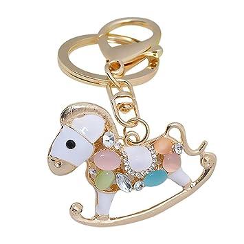 nikgic Cute Zodiac caballo ornamento colgante clave cadena ...