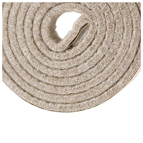 TOOGOO(R) Self-Stick Heavy Duty Felt Strip Roll for Hard Surfaces (1/2 inch x 60 inch), Creamy-White by TOOGOO(R) (Image #2)