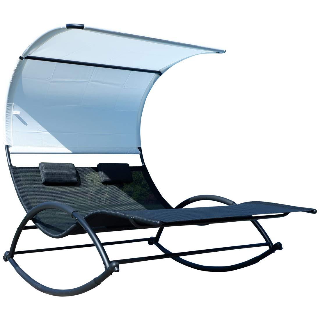 Macedora para sol ergonomicamente curvada en tejido sintetico transpirable con cojin y techo Modelo: IOS AS-S