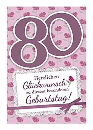 Depesche 5698.101 Tarjeta de felicitación con música, 80 ...