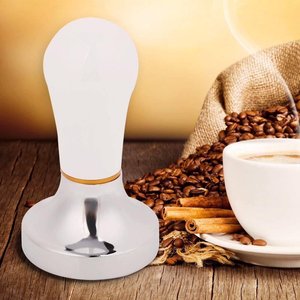 Gold HelloCreate Coffee Tamper 57mm Practical Handheld Aluminum Coffee Tamper with Handle for Coffee Maker