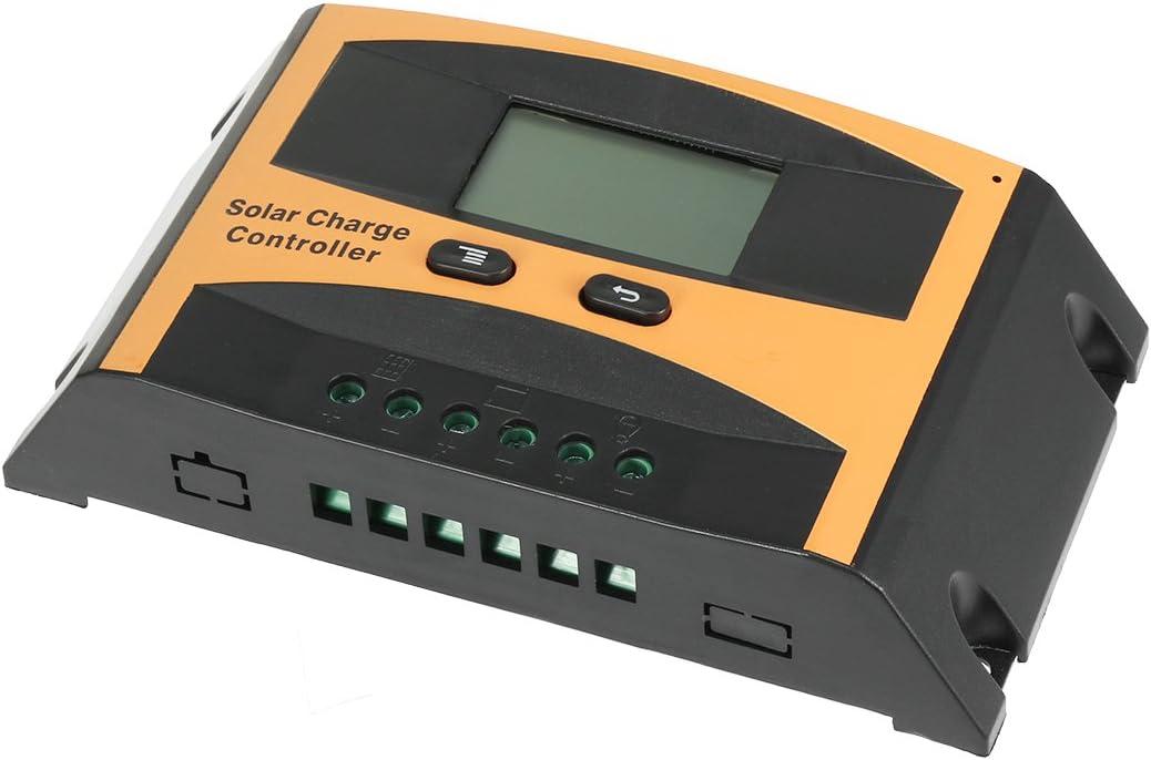 sourcing map 10A Contr/ôleur Charge Panneau Solaire 12V-24V R/égulateur Batterie PV2410