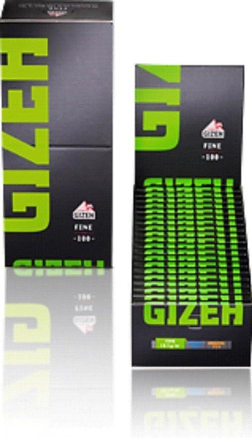 black XL Slim Filter Ø 6mm extra Lang Gizeh grün fine magnet 20 x 100 Paper