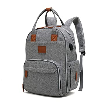 919e714e3a554 Amazon.com : Vuhom Diaper Bag Backpack Multi-Function Waterproof Maternity  Nappy Bags for Travel with Baby - Large Capacity, Durable and Stylish : Baby