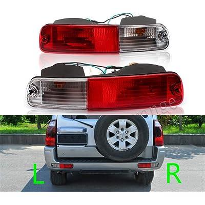 Clidr Rear Bumper Tail Brake Light Tail Lamp Signal Tail Light Reflector For Mitsubishi 2003 2004 2005 2006 2007 Pajero Montero V73 V75 V77 2003 2004 2005 2006 (left+right): Automotive
