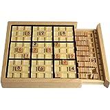 Andux Zone Sudoku Jeu de plateau de puzzle en bois avec tiroir SD-02 (Noir)