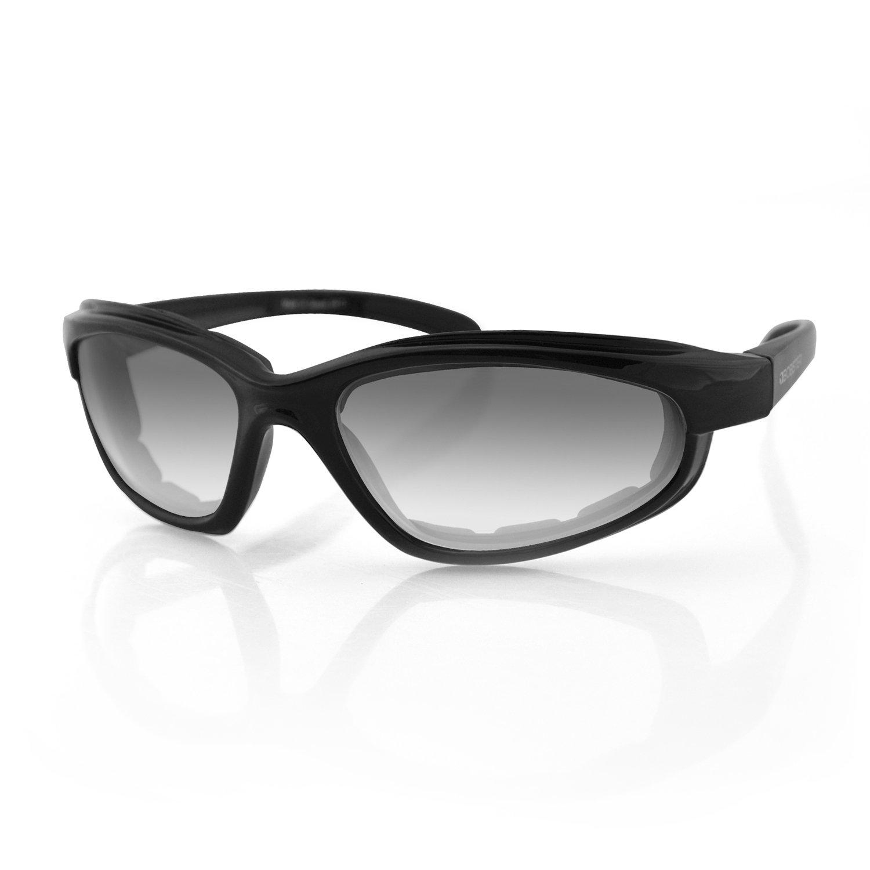 Bobster Fat Boy Sunglasses with Black Frame and Anti-Fog Photochromic Lens (Gloss Black) EFB001