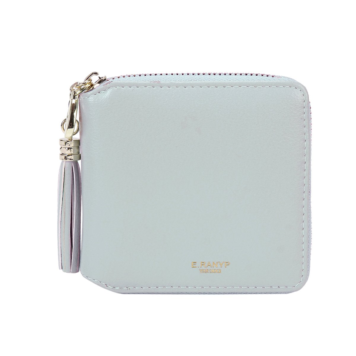 Damara Womens Practical Tassel Zipper Mini Coin Case Wallet,Light Blue