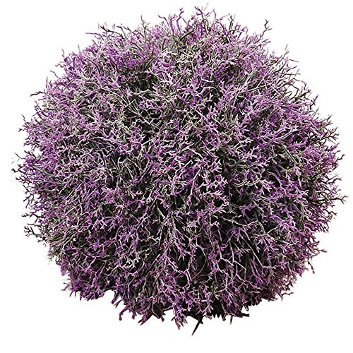 WHW Whole House Worlds Lavender of Provence Kissing Ball or Vase Filler, 7 3/4 Inches Diameter, Artificial Lavender Flowers