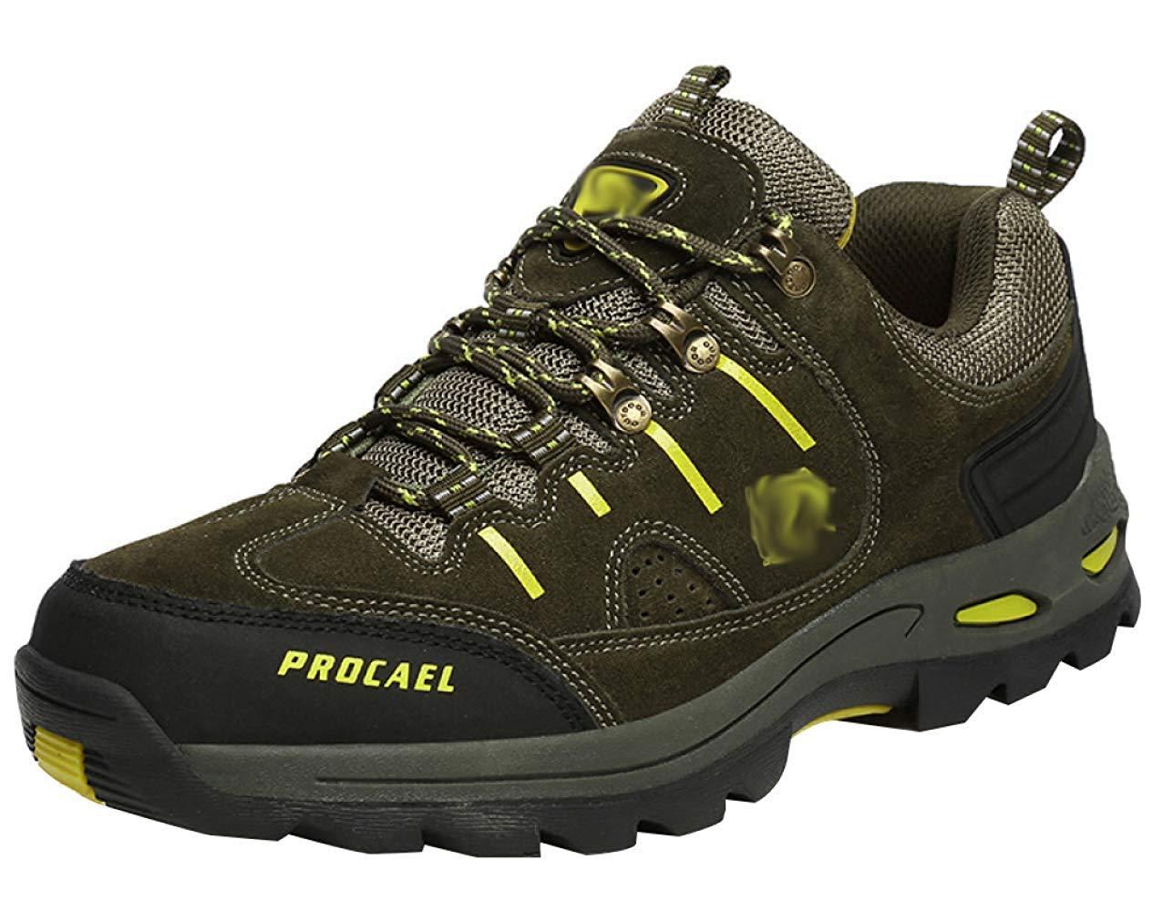 HhGold Männer Wanderschuhe Stiefel Leder Wanderschuhe Turnschuhe Für Outdoor Trekking Training Beiläufige Arbeit (Farbe : 22, Größe : 44EU)