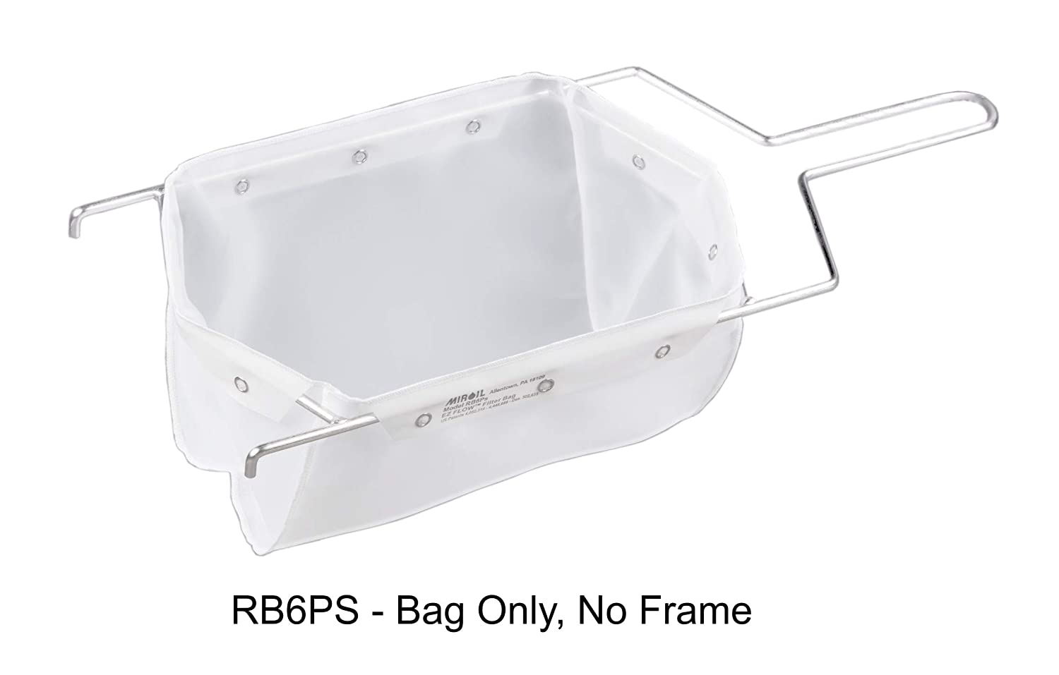 Miroil | RB6PS Fryer Filter Bag Only | MirOil EZ Flow Filter Bag | Part 12852| Use to Filter Fry Oil | Suitable for 70 lb Polishing Oil | Durable, Easy to Clean with Hot Water | No Frame inc