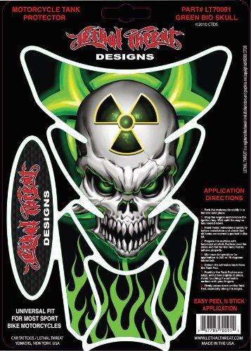 Lethal Threat LT70091 Tank Pad (Green Bio Skull), 1 Pack