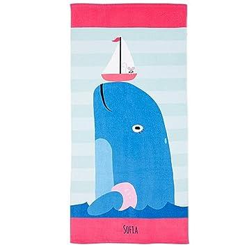 huateng Toallas para niños Viajes de verano Toallas de playa Toallas de viaje de playa Toallas de baño de terciopelo Mantas de bebé Manta de sofá: ...