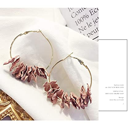 c03efc5e03f Amazon.com: Floral Earrings Handmade Flower Elegant Women Girls Lady ...