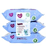 Parents Choice Sensitive Wipes, 216 sheets (Pack of 3)