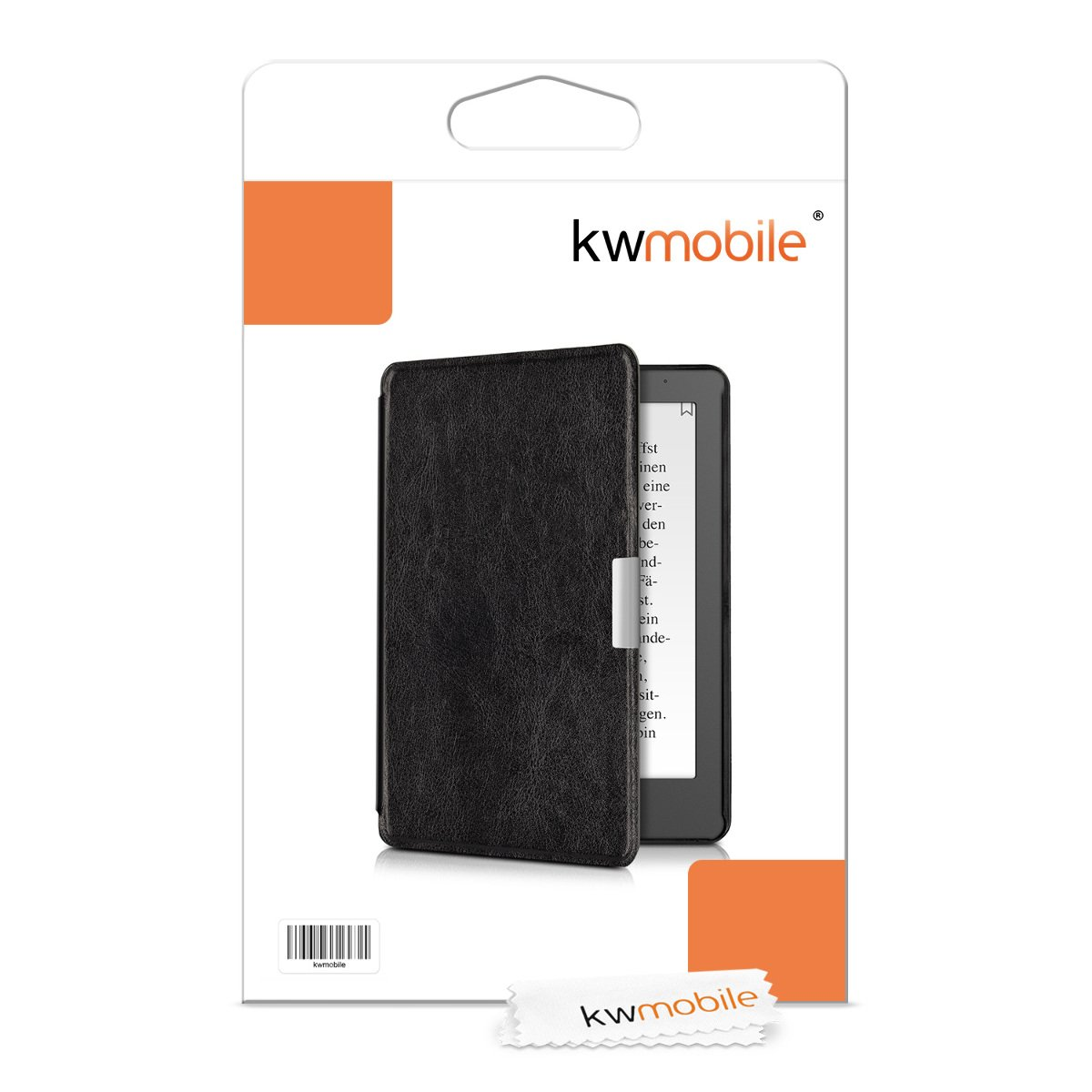kwmobile Case for Kobo Aura Edition 2 Book Style PU Leather Protective e-Reader Cover Folio Case Petrol