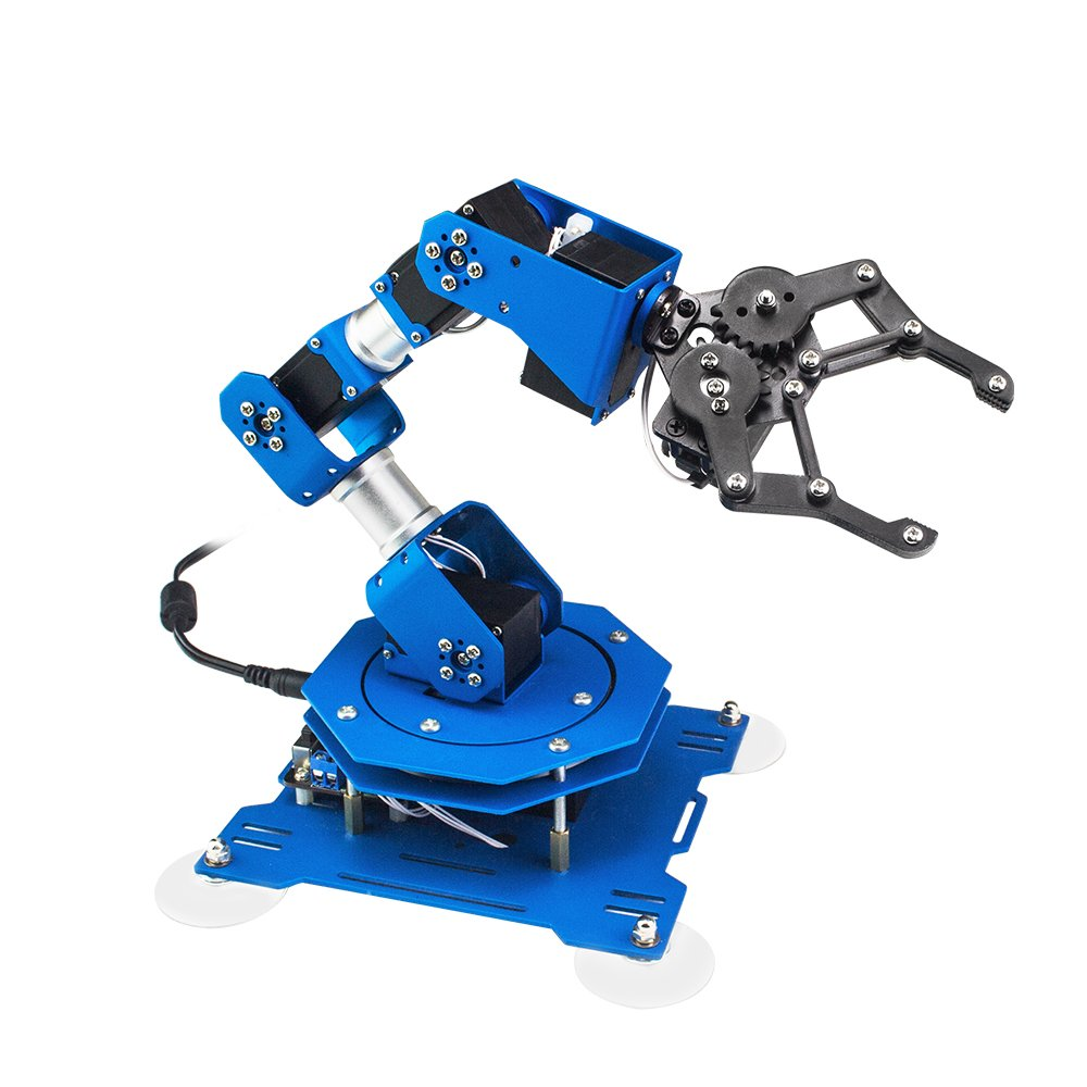 LewanSoul xArm 6DOF Full Metal Programmable Robotic Arm with Feedback of Servo Parameter, Wireless/Wired Mouse Control, Mobile Phone Programming for Arduino Scratch