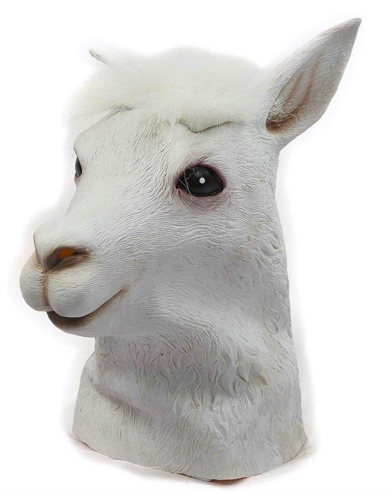 Gmasking Natural Latex Alpaca Head Mask