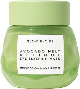 Glow Recipe Avocado Melt Retinol Eye Sleeping Mask - Brightening + De-Puffing Under Eye Cream with Retinol, Avocado Oil + Caffeine, Free of Silicones + Alcohol (15ml / 0.5 fl oz)