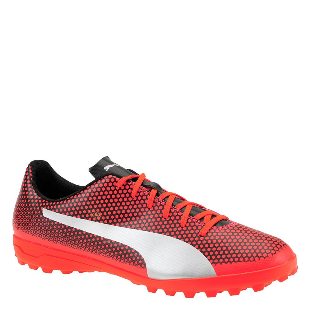 PUMA Men's Spirit Turf Trainer Soccer Shoe, Red Blast Silver Black, 8 M US
