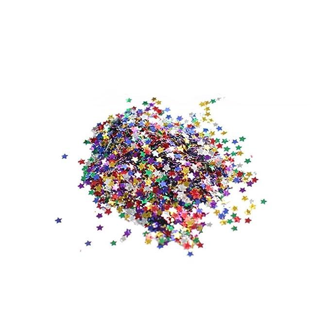 Confeti de Mesa ROSENICE Confeti Brillante Lentejuelas para Manualidades Arte de Uñas Decoración de Fiesta de la Boda 12 Botella (Estrella): Amazon.es: ...