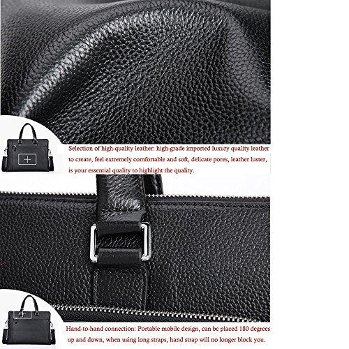 JUNBOSI Senior Herren Handtasche Business Bag Querschnitt Aktentasche Leder Casual Computer Tasche Herren Schulter Luxus Leder Herren Tasche Coffee 05IccNO3