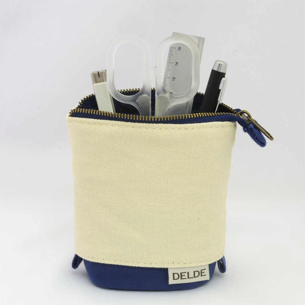 Sunstar DELDE Slide-And-Stand Pen Case Natural Blue