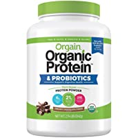 Orgain Organic Plant-Based Protein Powder, Creamy Chocolate Fudge, 2.74 Lb