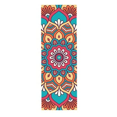 SUZHENAColchoneta de yoga5 MM Suede TPE Yoga Mat Pad ...