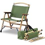 FIELDOOR クラシックチェア 木製 × コットン コンパクト収納 脚キャップ 収納バッグ付 耐荷重100kg アウトドア キャンプ…