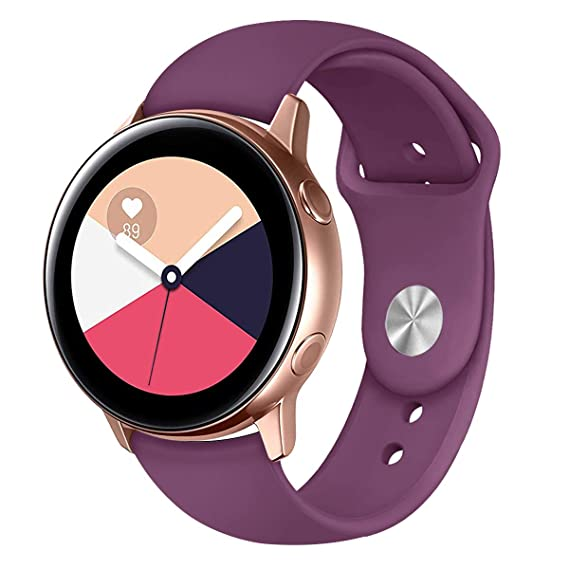 Band for Galaxy Watch Active Bands Garmin Vivoactive 3 Band,20mm Silicone Replacement Sport Strap Band Compatible for Samsung Galaxy Watch Active 40mm ...
