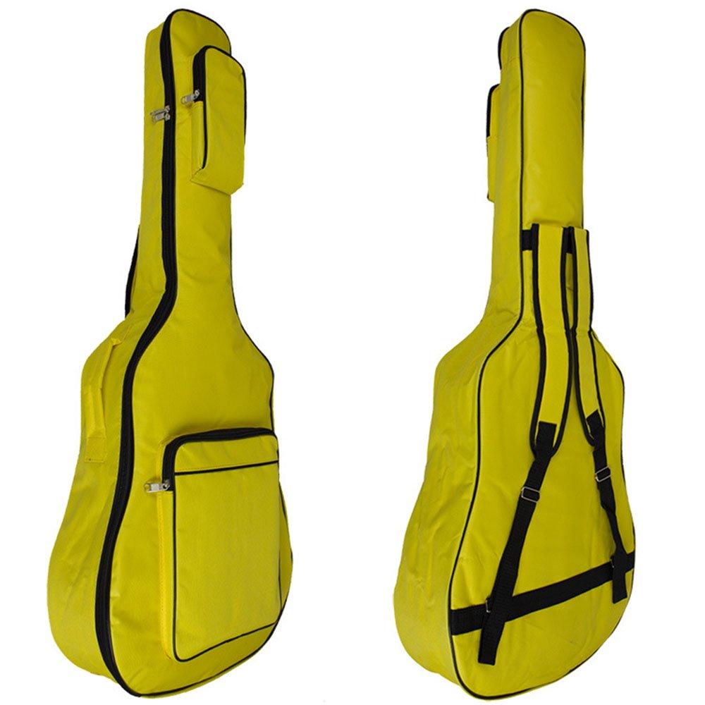 MINGZE 41 Funda para guitarra, bolsas de guitarra, bandolera ajustable a prueba de agua, variedad de colores (Amarillo)