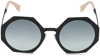 Facets Metal Heptagon Sunglasses in Matte Black FF 0152/S 003 51 Fendi EhhDjCC