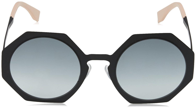 699df4be99 Sunglasses Fendi Ff 152 S 0003 Matte Black JJ gray gradient lens at Amazon  Men s Clothing store