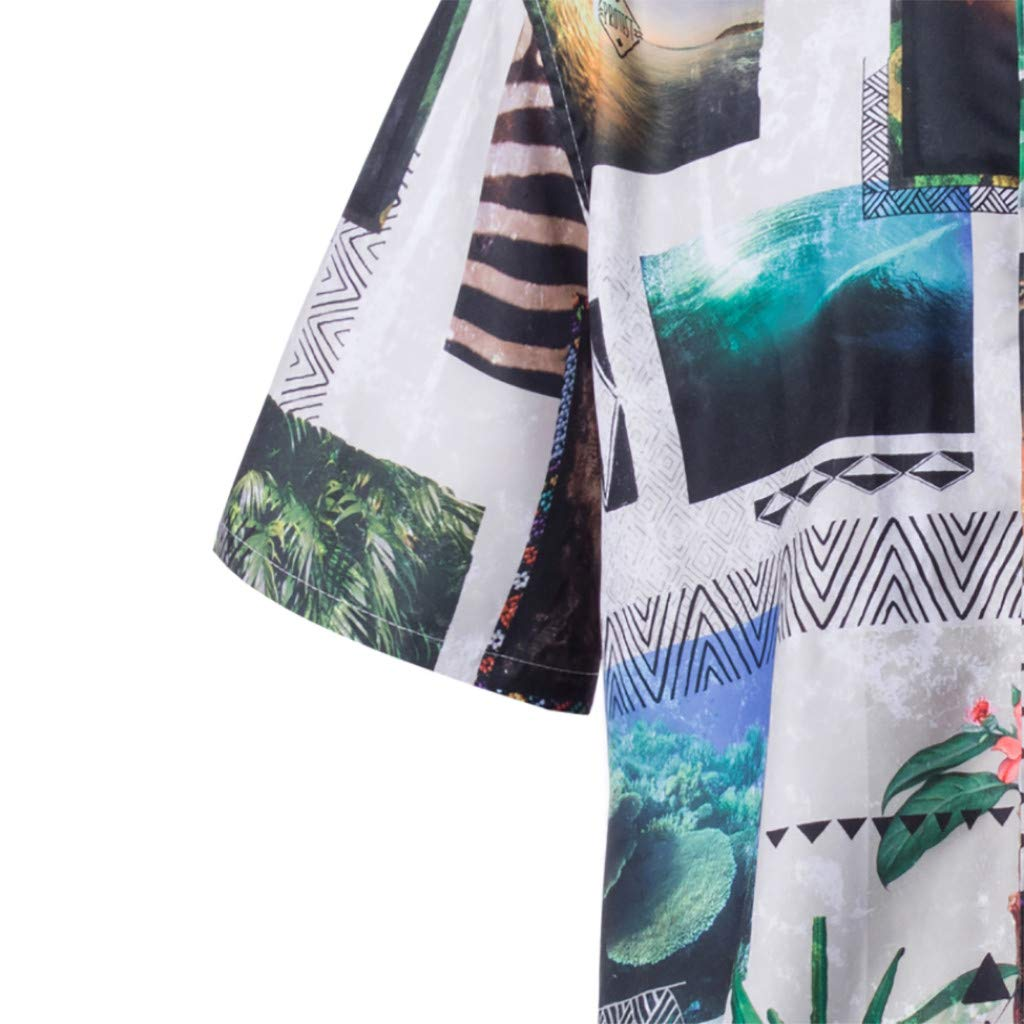 Spring and Summer Fashion Couple Personal Printed Short-Sleeved Beach Tops