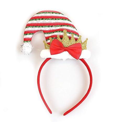Rocita - Diadema de Navidad con diseño de Elfo de Papá Noel para niños y  Adultos a3f43c927c8