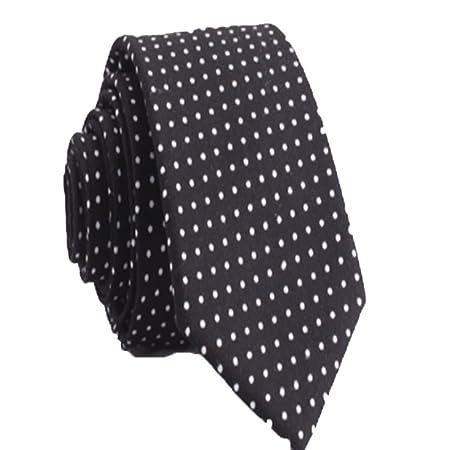 YYB-Tie Corbata Moda Corbata de algodón de Lunares de los Hombres ...